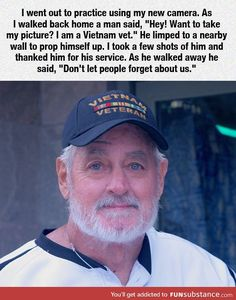 Browse new photos about Vietnam Veteran . Most Awesome Funny Photos Everyday! Vietnam Veterans, Vietnam War, Military Quotes, Military Life, Military History, Support Our Troops, Fight For Us, Military Veterans, Military Honors