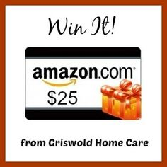 Enter to win a $25 Amazon Gift Card, courtesy of Griswold Home Care.  The #giveaway is open to US residents only and ends March 19, 2015.