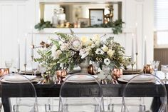 Photography : Cavin Elizabeth Photography | Event Planning : Luxe Events Read More on SMP: http://www.stylemepretty.com/living/2015/12/16/winter-wonderland-copper-infused-dinner-party/