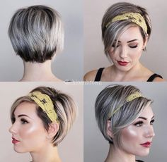 💛💥 Headband 360 💥💛 My hair is finally long enough to cover a headban… – Short hair styles – - Moyiki Sites Headband Hairstyles, Pretty Hairstyles, Scarf Hairstyles Short, Fringe Hairstyle, Hairstyle Ideas, Headbands For Short Hair, Pixie Headband, Short Hair Accessories, Curly Hair Styles