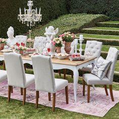 Louis XV Dining Table 300X100 - Mindi Reclaimed Teak