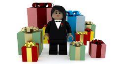 Modelo de LEGO para feliz aniversário feito no Blender. imagem 5