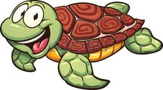Cartoon sea turtle Vector clip art illustration with simple gradients All in a single layer Stock Illustration