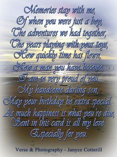 Birthday Ecards for son Inspirational Show Me Birthday Cards A Birthday Verse for A son Feel Free to Use Birthday Messages For Son, Birthday Verses For Cards, Birthday Poems, 40th Birthday Cards, Happy Birthday Son, Birthday Wishes For Myself, Birthday Sentiments, Birthday Wishes Quotes, Card Sentiments