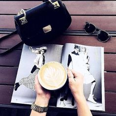 But first #coffee ☕️ Mornings with our favourite crossbody handbag from Aldo.  @rozachka