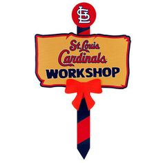 """St. Louis Cardinals 24"""" x 14"""" Holiday Workshop Sign"""