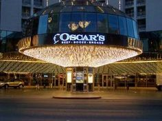 Oscar's Steakhouse Downtown Las Vegas memorabilia going back decades on the walls!