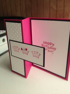 Melon mambo princess birthday card. Stampin up colors.