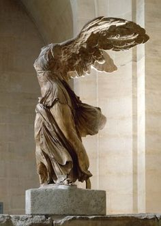 """MY FAVORITE sculpture ~ Winged Victory ... aka ... """"Victoire de Samothrace"""" - Musée du Louvre - Paris"""