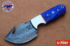 Damascus Blade Handmade GutHook 6.7 Skinner/Hunting