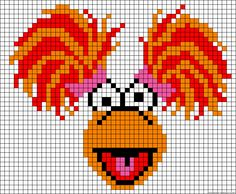 Fraggle Rock perler bead pattern. AG