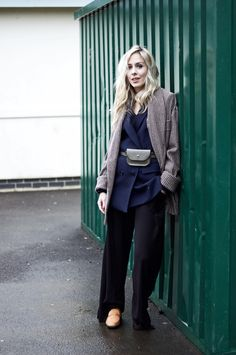 The Odd Downfall With Outfit Planning In Advance: #navy #black #style #newbark #loafers #leatherpouch #streetstyle