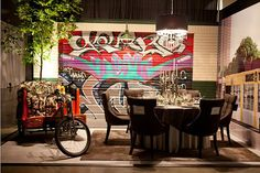 Graffiti Dining Room Design Vandalizing your Home With Graffiti: The Messy Art That Speaks Volumes