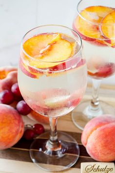 White Peach Sangria | cooking ala mel by cookingalamel, via Flickr