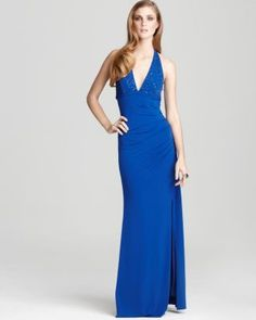 Laundry by Shelley Segal Womens Dresses Blue Sequined Evening Gown 2 or 8 $376   eBay Ours 4 Less $171.99