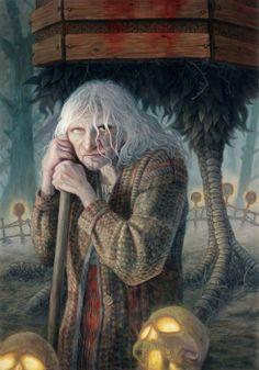 Baba Yaga – The Mythical Forest Witch from Slavic Folk Tales Baba Yaga, Fantasy Images, Fantasy Art, Illustrations, Illustration Art, Wicca, Eslava, Fantasy Paintings, Gods And Goddesses