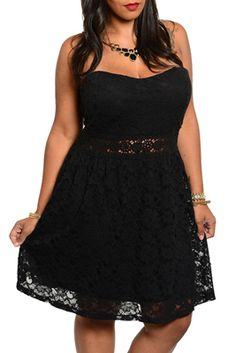 Rock your style in this one-of-a-kind dress! This dress has a sweetheart neckline and is strapless. An all over lace overlay is very classy and romantic! There is a cut out panel along the waist that is covered in sheer lace for added sex appeal! Look great at your next event in this!