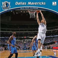 Dallas Mavericks Wall Calendar: If basketball is your passion and your favorite team is the Dallas Mavericks, this is the perfect 2013 NBA wall calendar for you! Vivid action-packed images are fully featured along with player bios, team trivia and noteworthy historical NBA dates listed each month.  http://www.calendars.com/Basketball/Dallas-Mavericks-2013-Wall-Calendar/prod201300001104/?categoryId=cat00446=cat00446
