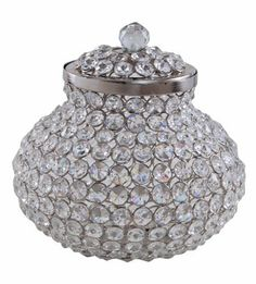 Decorative Crystal Container - 20 x 20 x 19 cm