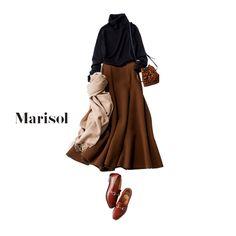 シンプルな黒タートルは旬のブラウングラデとトラッド小物で仕上げて【2018/1/19コーデ】Marisol ONLINE|女っぷり上々!40代をもっとキレイに。