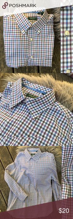 👔 Bobby Jones 100% Indian cotton men shirt Worn but excellent condition, only dry cleaned, never washed, 100% cotton, size xl, colors: white, light grey, blue and pink Bobby Jones Shirts