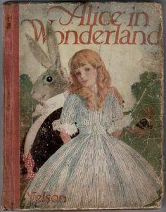 alice in wonderland Alice In Wonderland Illustrations, Alice In Wonderland Book, Adventures In Wonderland, Vintage Book Covers, Vintage Children's Books, Antique Books, Beatrix Potter, Alice Book, Mad Hatter Tea