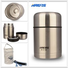 Haers Insulated Food Jar With Bag 600ml Stainless Steel Insulated Food Container Vacuum Lunch Box Thermos for Kids HTH-600A #clothing,#shoes,#jewelry,#women,#men,#hats,#watches,#belts,#fashion,#style