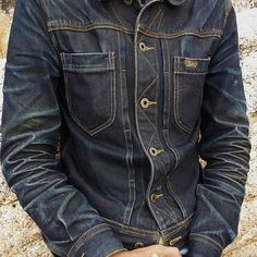 "Reposting @robindenim: ... ""Those honeycombs.. @tammamat"" Denim jeans jacket menswear Denim Boots, Denim Jacket Men, Denim Man, Nudie Jeans, Love Jeans, Jeans Style, Mens Fashion Blog, Denim Fashion, Edwin Jeans"