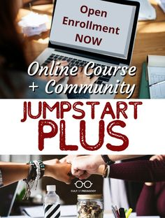 JumpStart your technology game Plus benefit from our community of learners. The open enrollment window is short, so JOIN US NOW! Cult Of Pedagogy, School Building, Career Advice, Professional Development, Teacher Resources, Online Courses, Distance, Benefit, Join