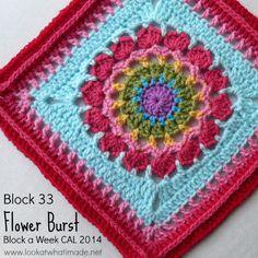Block 33:  Flower Burst Square  {Photo Tutorial…ish}