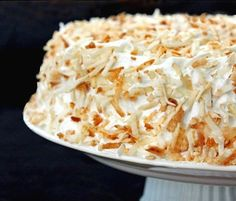 Coconut Cake Recipe With Fluffy Coconut Icing -- Thai inspired