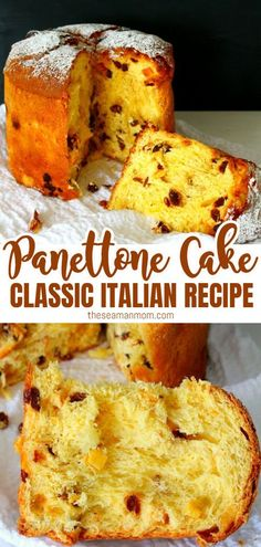 This traditional Italian Panettone Recipe was originally a Christmas sweet bread but make it once and you'll want it on your table with every holiday! Panettone Rezept, Panettone Cake, Italian Panettone, Easy Panettone Recipe, Italian Pastries, French Pastries, Italian Christmas Cake, Christmas Baking, Christmas Cake Recipe Traditional