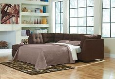 Maier Walnut 2 Pc. Left Arm Facing/Right Arm Facing Sectional