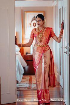 Ashrita shetty and manish pandey celebrity weddings weddingsutra Bridal Sarees South Indian, South Indian Bridal Jewellery, Bridal Silk Saree, Indian Bridal Outfits, Indian Bridal Fashion, Saree Wedding, Indian Wedding Sarees, Bride Indian, Telugu Wedding