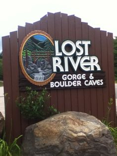 Lost River Gorge in New Hampshire. Mountains and caverns for the kids to climb and crawl through!