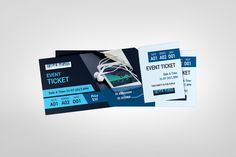 Event Ticket Template, Event Tickets, Flyer Template, Ticket Design, Corporate Flyer, Print Templates, Events, Invitations, Note