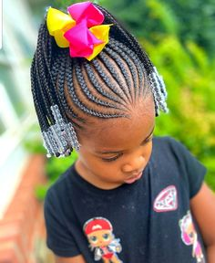 Young Girls Hairstyles, Little Girls Natural Hairstyles, Little Girl Braid Hairstyles, Black Kids Hairstyles, Baby Girl Hairstyles, Kids Braided Hairstyles, Beautiful Hairstyles, Little Girl Braid Styles, Little Girl Braids