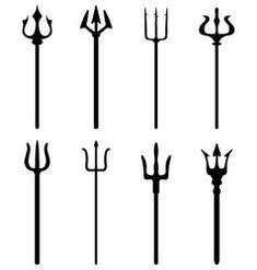 Set of trident vector Leg Tattoos, Black Tattoos, Tattoos For Guys, Tatoos, Sword Tattoo, I Tattoo, Trishul Tattoo Designs, Trident Tattoo, Surf Logo