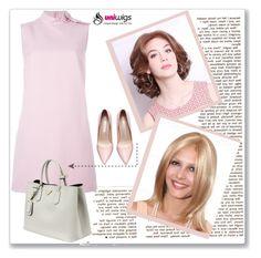 """UniWigs"" by amra-mak ❤ liked on Polyvore featuring moda, RED Valentino, Prada, women's clothing, women's fashion, women, female, woman, misses e juniors"