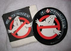 Ghostbusters paper plates and napkins Ghostbusters Birthday Party, Ghost Busters, Cake Plates, Birthday Parties, Birthday Ideas, Lululemon Logo, Party Planning, Napkins, Entertaining