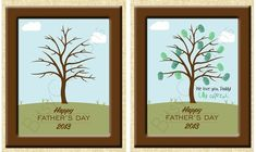 Fingerprint Father's Day Printable Tree Craft - Print it now and make just in time for dad! Do It Yourself DIY