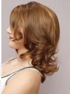 Tapered Curls - Face Framing Layers Honey Colored Brown Hair