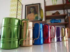Atomic Vintage Aluminium Anodised Mugs Tankard Design