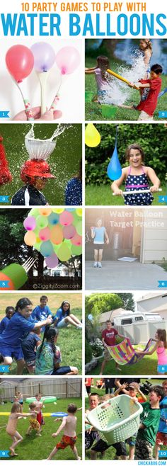 Here are 10 fun party games you can play with water balloons this summer! These games will be a big hit for all ages: 1. Water Balloon Spoon Races via Two Shades Of Pink – All you need to stage this race are some wooden spoons from the dollar store and some smaller size water balloons. 2. Water balloon baseball via Spoonful – Super easy. Super fun! 3. Catch The Water Bombs via Parties 4 Me – Attach a …