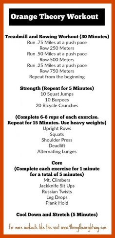 orange theory home workout * orange theory workout at home Rowing Workout, Treadmill Workouts, At Home Workouts, Tabata, Body Workouts, Running Workouts, Circuit Workouts, Emom Workout, Treadmill Running