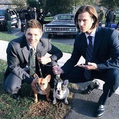 Pin for Later: The 33 Best Moments From Jensen and Jared's Supernatural Bromance When They Made the Cutest New Friends on Set