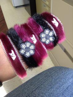 Sealskin bracelets, made by Shannon Mitchell, Makkovik, NL.