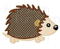 Porcupine applique machine embroidery design digital by FunStitch Machine Embroidery Applique, Embroidery Patterns, Applique Designs, Digital Pattern, Animal Drawings, Baby Quilts, Quilt Blocks, Butterfly, Stitch
