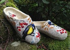 Felted Slippers Winter spirit Made to order