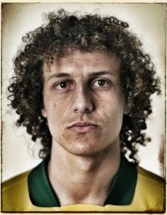 David Luiz. Brazil national team. Confederations cup photoshoot.